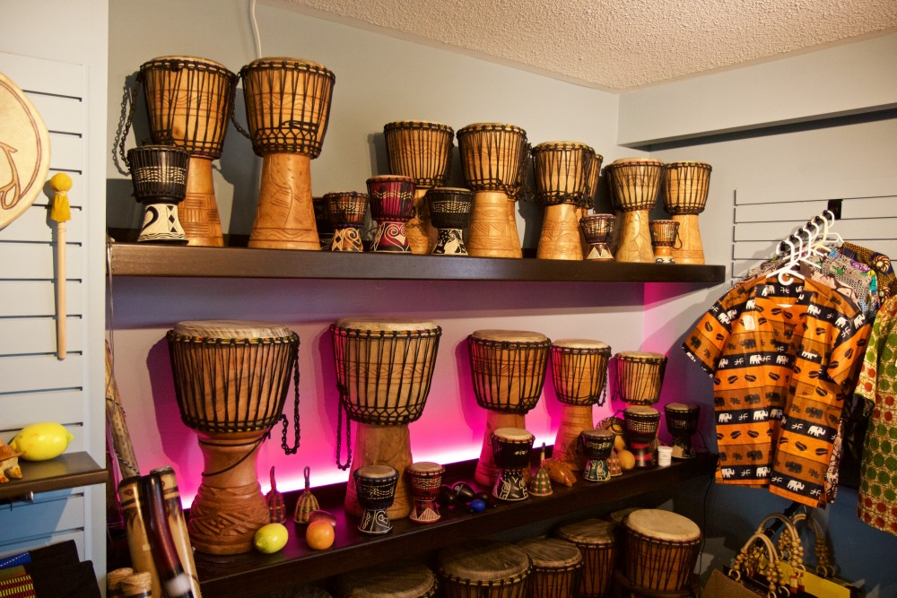 Interior Store Djembe Display