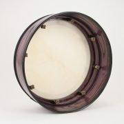 Purple 16 Inch Bodhran Black Trim2