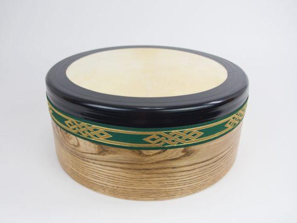 Bodhran 14Inch -Green-Gold Bingo Knot3
