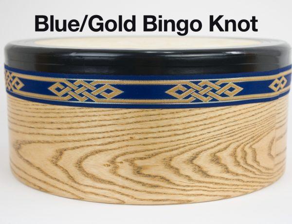 Bodhran -Blue Gold Bingo Knot