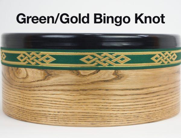 Bodhran -Green Gold Bingo Knot